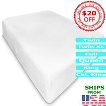Mattress Pad Encasement Hypoallergenic Bed Protector Topper Pillow Top 1... - $64.99+