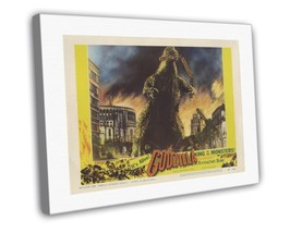 Godzilla 1956 Vintage Movie FRAMED CANVAS Print 36 - $19.95+