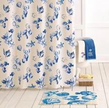 """New SONOMA 70X72"""" Shower Curtain SEABROOK White & Blue Ocean Beach Sea S... - $38.37 CAD"""