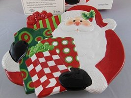 Fitz & Floyd Holiday Home Santa With Gifts Canape Plate 2007 Macys Exclusive - $31.67