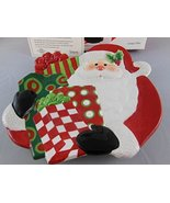 Fitz & Floyd Holiday Home Santa With Gifts Canape Plate 2007 Macys Exclu... - $31.67