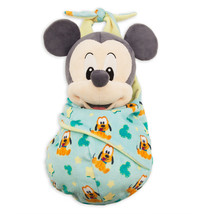 Disney Parks Baby Mickey in a Blanket Pouch Plush New with Tags - £27.41 GBP