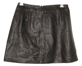 Vintage Betsey Johnson black leather mini skirt sissy holiday party-8 - $99.00