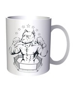 World of Sports Fighting Dog 11oz Mug w799 - $10.83
