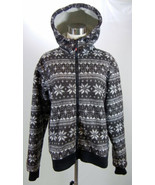 MOUNTAIN HORSE Womens Jacket Parker Jogger Hooded Zip Up Snowflake Print... - $49.49