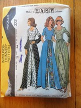 Vintage 70'S Mccalls Wrap Around Pant Skirt And Blouse Sz 12 Long Culottes - $17.82