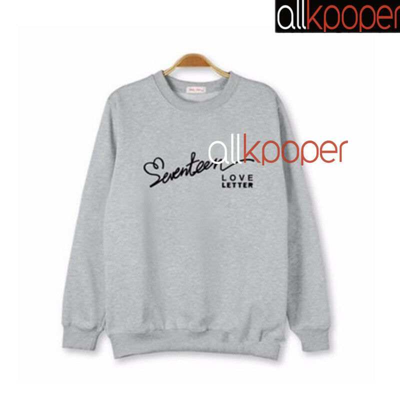 KPOP Long Sleeve Letter Sweater Casual Sweatershirt Autumn Top S.COUPS THE8 DINO
