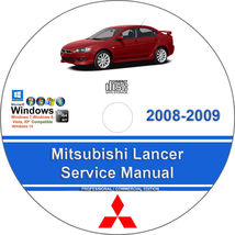 Mitsubishi Lancer 2008-2009 Factory Workshop Service Repair Manual - $15.00