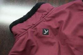 39183 Womens Prana Fleece Lined Red Full Zip Camp Sweater Vest Size Medium - $24.87