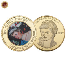 WR Princess Diana 1961-1997 20th Anniversary Colored Portraits Gold Plat... - $4.76