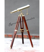 Brass Marine Navy Nautical Telescope Vintage Floor Standing Tripod Decor... - $44.09