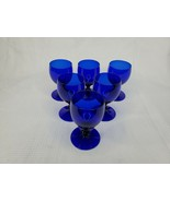 Cristal D'Arques Set of 6 Brandy Sniffers in Cobalt - $42.56