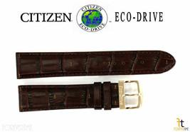 Citizen Eco-Drive AU1043-00E 20mm Cuir Marron Bracelet de Montre S070937 - $82.71