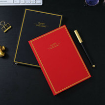 A5 Hard Cover Vintage Journal Notebook Lined Paper Diary Planner 200 Pages - $24.19