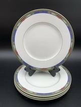 MIKASA Ultima HK 707 Plaza Court Blue Salad Plates EUC Set of 4 - $39.59