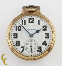 Hamilton Open Face Gold Filled Antique Pocket Watch Grade 992E Size 16 2... - $909.74