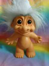 Vintage Russ Berrie and Co. Light Blue Hair & Night Cap Large Troll Nude - $9.85
