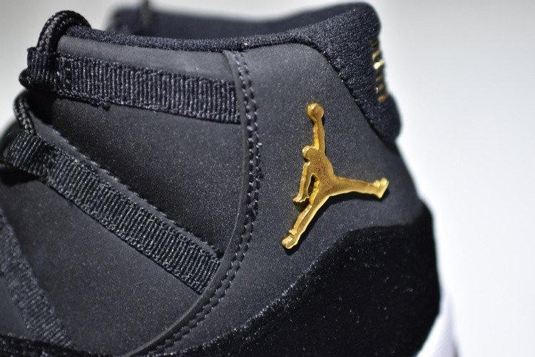 6ce14856672 Women Nike Air Jordan 11 Black Velvet Receipt XI Retro BLACK 40 Heiress 4