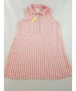 Nuovo C&c California Vestito Donna Camicia 100% Lino Rosso Rosa Bianco 2... - $42.22