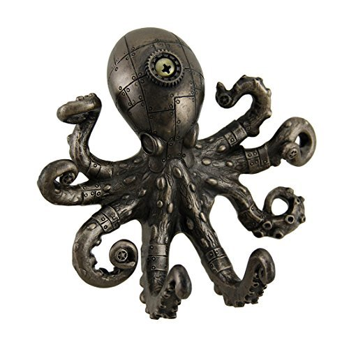 Resin Decorative Wall Hooks Antique Bronze Finish Steampunk Octopus Wall Hook 5