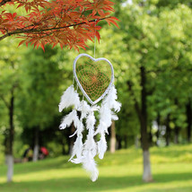 New pure white heart dream net car hang decoration wedding decoration ho... - $2.23