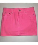 J.CREW Neon-Pink Denim Mini Skirt Sz 28 - $25.15