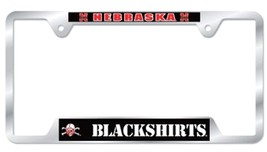 Nebraska Blackshirts Heavy Duty Chrome Metal License Plate Frame - $13.95