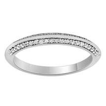 14k White Gold Plated 0.44 Ct Sim Diamond Womens Wedding Anniversary Band - $84.99