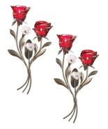 Romantic Red Roses Wall Sconces Set of 2 - $46.99
