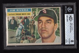 1956 Topps #70 Jim Rivera (WB) Baseball card- BCCG 8 (EX) Chicago White Sox - $14.80