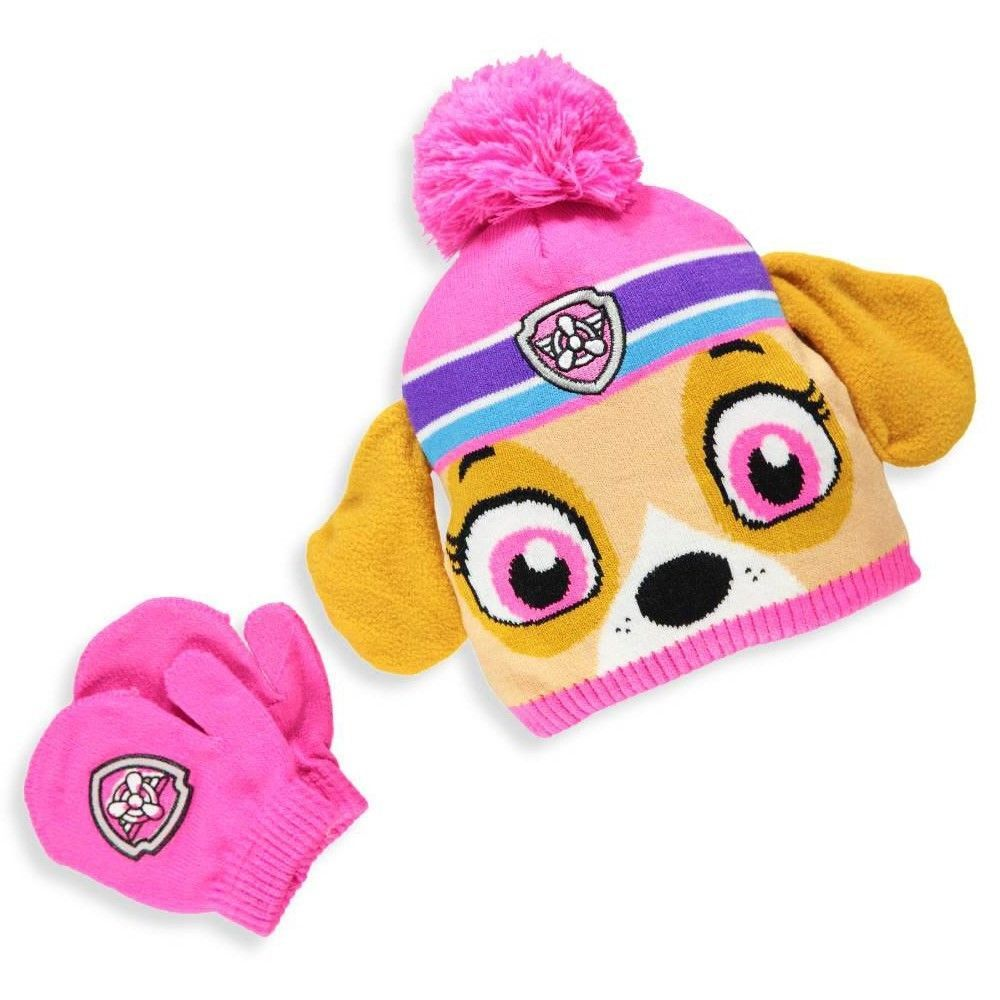 cb5481ad0a695 S l1600. S l1600. PAW PATROL NICKELODEON SKYE Toddler s Winter Beanie Hat   Mittens  Set NWT  22