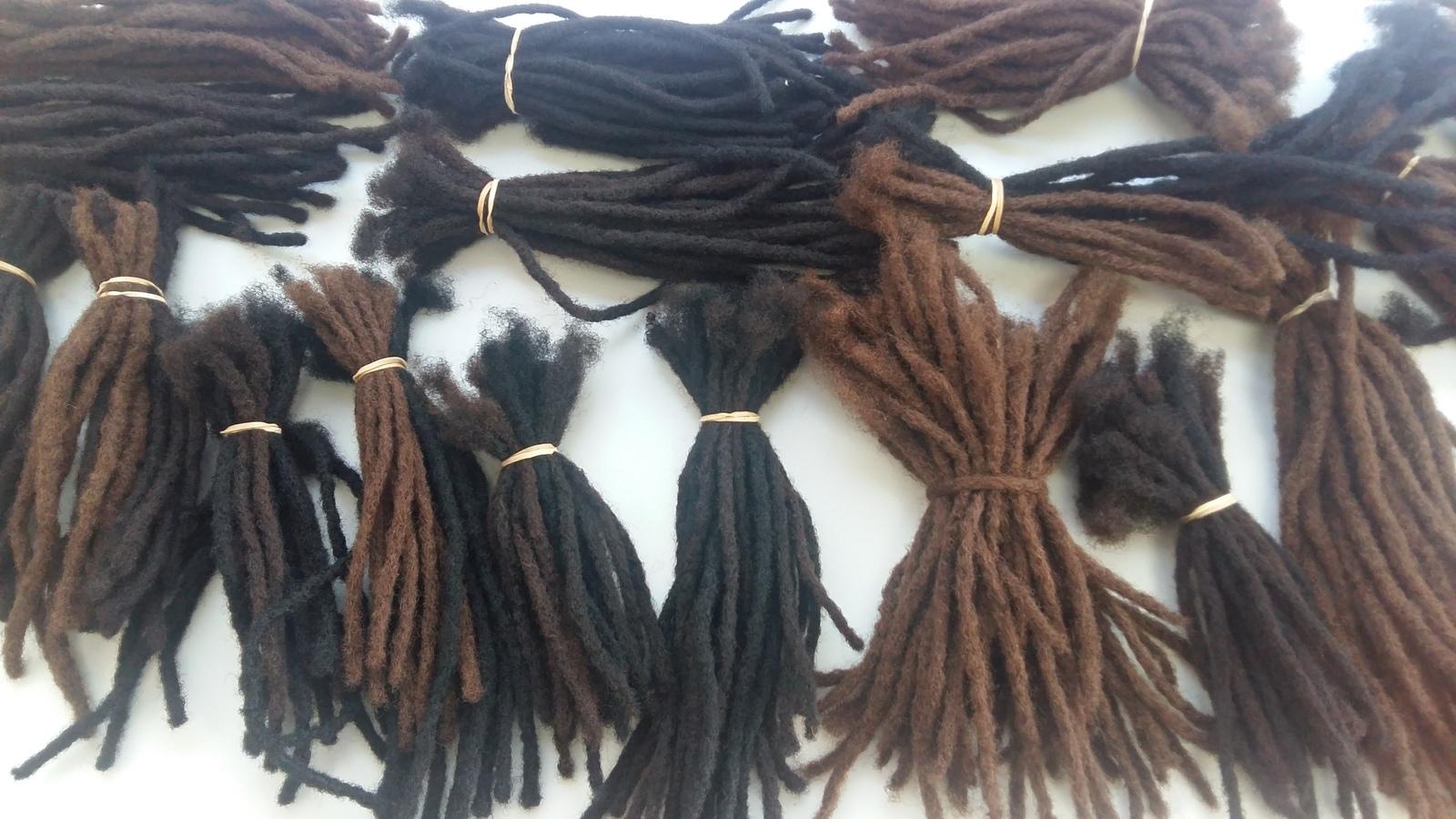 100 human hair handmade natural dreadlocks extensions 10 locs per 1 of 8 pmusecretfo Choice Image