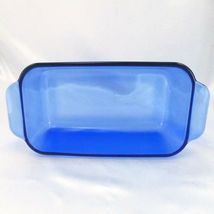 "Pyrex 213-R Cobalt Blue Loaf Pan 1.5qt Baking Dish 8.5""x4.5""x2.5"" image 3"