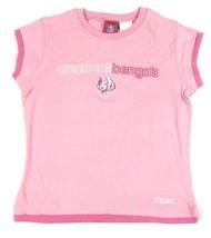 Girl's Cincinnati Bengals Shirt Girly Girl Pink Tee NFL Football Reebok T-Shirt