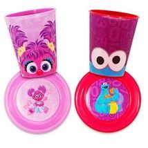 Sesame Street Dinnerware Set Toddler Baby 4 Piece Dining Set -- 2 Cups, 2 Bowls