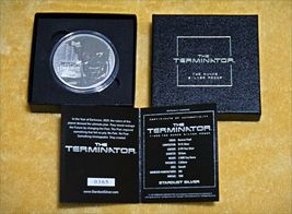 Terminator T-800 2 Oz .999 Silver Proof Round With COA & Individually Numbered image 9