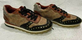 Coach c118 sneakers. Signature and rivets RARE! Women Size 6 B - $177.65