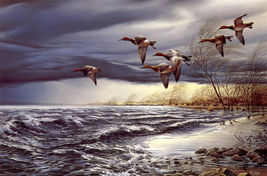 Animal illustration Art oil painting printed on canvas home decor Whitew... - $14.99