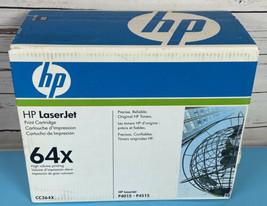 Genuine Oem Hp CC364X Black Toner Cartridge 64X Laser Jet P4015 P4515 New Sealed - $69.69