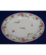 "STUNNING LIMOGES FRANCE JEAN POUYAT 11"" PLATTER ROSES FORGET-ME-NOT GOLD - $25.24"