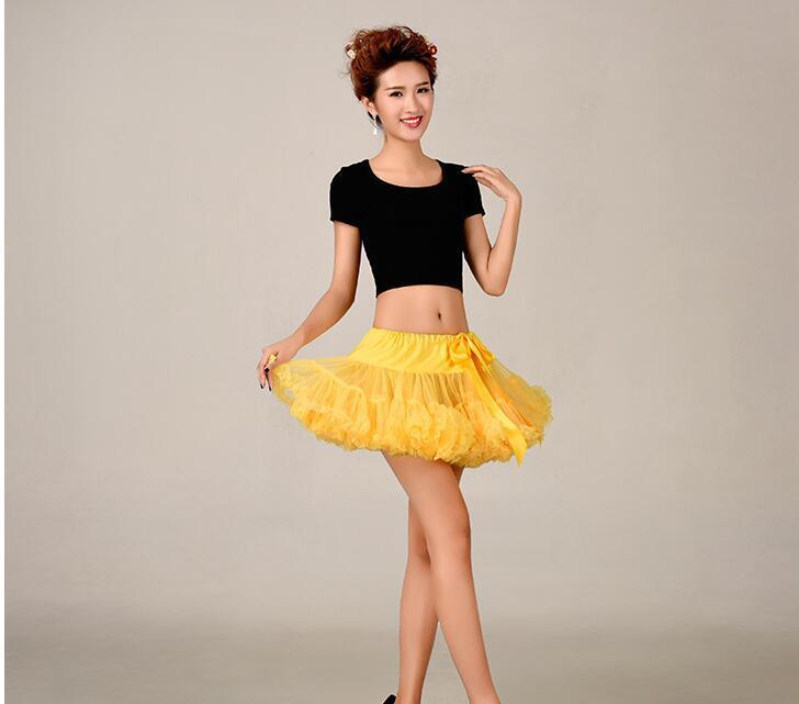 Hot Sale Girls Skirts Yellow Short Petticoats For Wedding Girls Dance Dress 2019