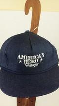 Vintage Wrangler Jeans American Hero Denim Trucker Hat Snapback Cap  - $12.86