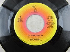 """Don Williams Lay Down Beside Me 1978 ABC Record Vinyl 7"""" 45 RPM AB-12458 - $4.46"""
