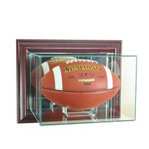 Perfect Cases NFL Wall Mounted Football Glass Display Case, Cherry - $83.99