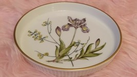 Spode Stafford Fleurs Iris & Sphaerolobium.flan Quiche Dish.pre-owned, Vgc - $10.94