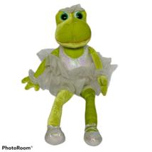 "Russ Berrie Green Bettina Ballerina Frog Plush Stuffed Animal 13.5"" - $26.73"