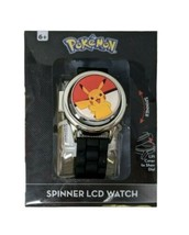 Pokemon Ball Spinner Watch with Pikachu on Face - Black Band by Accutime  - $17.75