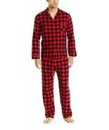 NWT Men Hanes Woven Red Flannel Pajama Set Stretch Elastic Waist  S M L ... - $21.95