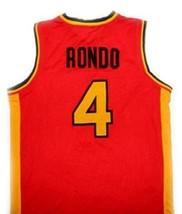 Rajon Rondo #4 Oak Hill High School Basketball Jersey Red Any Size  image 5