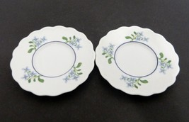Dansk Fransk Collection Blossom Pattern Made in Japan Scalloped Two Saucers - $12.75